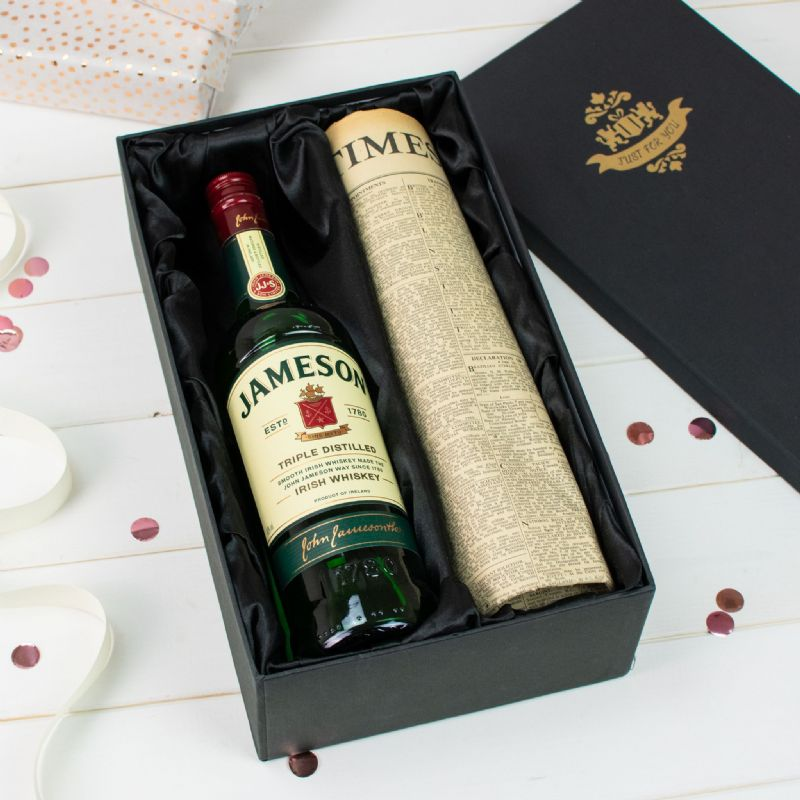 Jameson Irish Whiskey and Newspaper Gift Set | Perfect Gift for a loved one